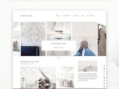 Simply Pro Minimalist Wordpress Theme RESPONSIVE di BloomBlogShop
