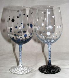 Taças decoradas para um brinde original! Acesse…