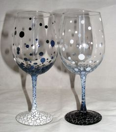 Hand painted wine glasses, Painted wine glasses and Wine glass on