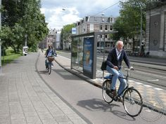 Tram-stop-bypass in Sarhaptistraat, Amsterdam. Click here http://www.cycling-embassy.org.uk/photos/good-cycling-facility-of-the-week/good-cycling-facility-of-the-week-31st-october-2013 for details via Cycling Embassy GB & visit the slowottawa.ca boards >> http://www.pinterest.com/slowottawa/