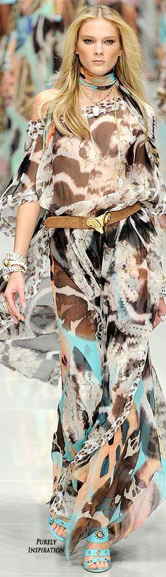 Blumarine ~ Summer Multi Color Print Maxi Dress 2011