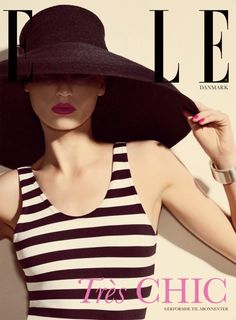 classic nautical stripe and a very large sunhat ;)