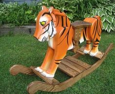 Travis, The Wooden Rocking Bengal Tiger by Trott Wood Creations