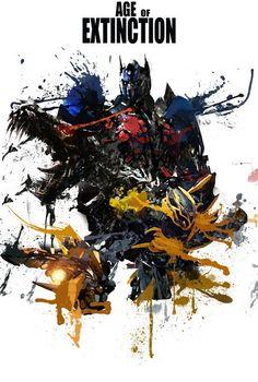 048 Transformers 4 Age of Extinction - 2014 Hot Movie Film Poster Transformers Optimus, Optimus Prime, Transformers Bumblebee, Aliens, Pokemon Fan, Cool Art, Anime, Fandom, Art Prints