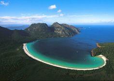 Wineglass Bay, Tasmania, Australia #jetsettercurator