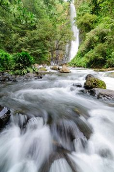 Costa Rica has some very beautiful & impressive waterfalls.