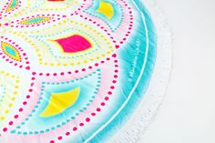 "This amazing round terry beach towel  , so soft and thick , is available from our shop.   BUY ROUND TOWEL --->>>>>    GET 2 SHEETS OF FLASH TATTOS FREE  59""// 150 cm // 100% Cotton // Made in turkey // Design @MandalaLifeART"