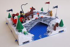 mod11_bridge03 | Flickr - Photo Sharing! Lego Christmas Sets, Lego Christmas Village, Lego Winter Village, Christmas Displays, Christmas 2019, Christmas Decor, Christmas Ideas, Christmas Ornaments, Lego Bridge