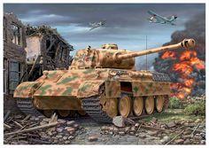 Panther Ausf. D -  10.Panzer-Brigade Stab - 10ª Panzer Regiment della 8ª Panzerdivision.
