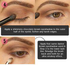 Step by Step Smokey Brown Eyeshadow Tutorial!