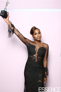 Issa Rae at the ESSENCE 2017 Black Women In Hollywood Awards' Photo Booth