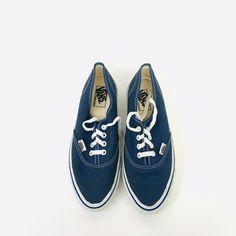 Vintage Blue Vans Shoes Made In USA