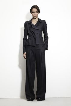 "Bottega Veneta, Pre-fall 2013 Save the shoes, but I love how ""messy"" this looks."