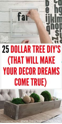 DIY Dollar Tree crafts that will make your farmhouse home decor dreams come true! These Dollar Tree DIY& are super easy! DIY Dollar Tree crafts that will make your farmhouse home decor dreams come true! These Dollar Tree DIYs are super easy! Dollar Tree Decor, Dollar Tree Crafts, Christmas Decor Dollar Tree, Christmas Trees, Dollar Tree Cricut, Dollar Tree Vases, Dollar Tree Fall, Dollar Tree Finds, Dollar Store Hacks