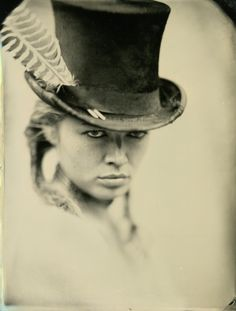 Top Hat ~ Wet plate photography by Ed Ross Vintage Photography, Portrait Photography, Photography Ideas, Alternative Photography, White Photography, Vintage Pictures, Cool Pictures, Grafik Art, Photo Star