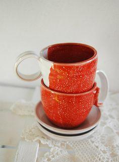 Tea and coffe cups   Set of 2 with saucers Al Bacio by concreta, €40.00