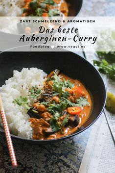Veggie Recipes, Vegetarian Recipes, Chicken Recipes, Cooking Recipes, Healthy Recipes, Easy Asian Recipes, Ethnic Recipes, Curry D'aubergine, Clean Eating Chicken