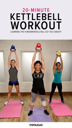If you only have 20 minutes to exercise, then we highly suggest that this is the workout you choose. Trainer Yumi Lee of Reebok CrossFit Lab will take you through an intense kettlebell workout… Kettlebell Training, Crossfit Kettlebell, Kettlebell Workout Video, Butt Workout, Workout Videos, Reebok Crossfit, Kettlebell Challenge, Kettlebell Benefits, Boxing Workout