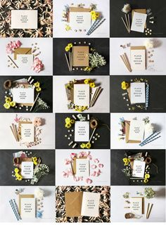 Beautiful greeting card mockups only for $15 on Creative Market