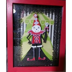 Cute Retro Circus Clown Art  Paper Sculpture
