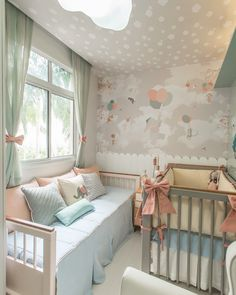 For more nursery's inspirations go to CIRCU.NET and discover more ideas and furniture for luxury baby bedroom Trendy Bedroom, Girls Bedroom, Baby Nursery Decor, Bedroom Decor, Baby Bedroom Ideas Neutral, Baby Room Furniture, Baby Room Design, Baby Boy Rooms, Twin Girl Nurseries