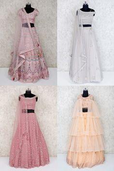 Choli Designs, Kurta Designs Women, Blouse Designs, Girls Frock Design, Long Dress Design, Net Lehenga, Lehenga Choli, Indian Designer Outfits, Indian Outfits