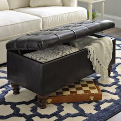 Make your dad's space feel like the White House with our Kennedy Brown Faux Leather Tufted Bench. This bench would be the perfect addition to his game room or office, providing a comfortable place to sit and a convenient place to store spare items!