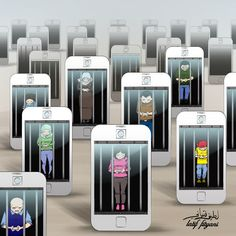 Art is often a mirror, reflecting the social issues and problems of the day. With the rise of ubiquitous Internet, smart phones, and other Internet enabled devices, being online all the time is not only possible, it's the de facto state for many. This list of satirical illustrations highlight some of the biggest problems with technology addiction. Which one has the strongest message? Vote on your favorite, or if we've missed an image that you think should be in this list, upload it be...