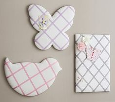 Shaped Ribbon Board - looks easy to make and could do in baby room colors
