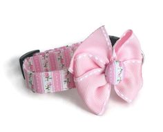 Shabby Chic Pink and Green Dog Collar size Extra by jeanamichelle, $15.00