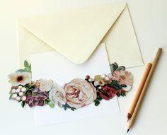 Crown of Flowers Die Cut Invitation | 24306