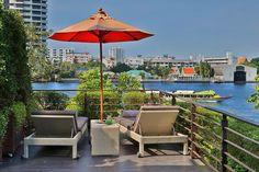 Living room by the river at Riva Surya Bangkok