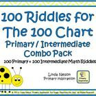 100 Riddles for the Hundred Chart Primary / Intermediate Combo Pack Kids Jokes And Riddles, Number Riddles, Jokes For Kids, 100 Chart, Hundreds Chart, Fun Activities For Kids, Math Activities, Math Coach, Counting Coins