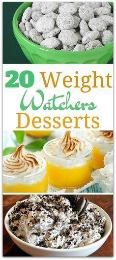 20 Delicious Weight Watchers Desserts #totalbodytransformation