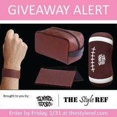 Win a #football prize pack from Zumer Sport and celebrate the #SuperBowl. #NFL #eyeglasscase #slapbracelet #toiletrycase #businesscardholder Enter by 1/31 at www.thestyleref.com