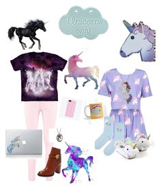 """""""Unicorn cutie"""" by mysterystylist17 ❤ liked on Polyvore featuring Boohoo, Topshop, Gorham, Valentino and Vinyl Revolution"""