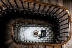 Photographe mariage pau pays basque biarritz bayonne landes couple mariage escaliers