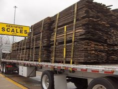 Reclaimed lumber...I wish this truck would pull up in my drive way!