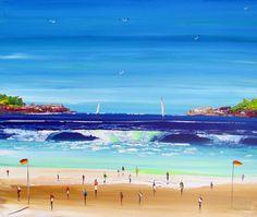 Painting on Canvas - Beach Painting - Original Painting- Abstract Painting- Acrylic Painting -- sand - seascape - aqua - blue - art