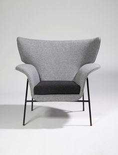 Augusto Bozzi; Enameled Metal Lounge Chair, c1950.