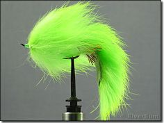 Chartreuse Salmon Bunny Leech  A large profile leech pattern, this Chartreuse Salmon Bunny Leech will get attention from a distance. Both cr...