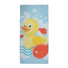 Ducky Beach Towel by Daecu - CafePress Rubber Duck Bathroom, Custom Beach Towels, Pool Towels, Kids Bath, Pillow Shams, Teacher Gifts, Duvet Covers, Just For You, Kids Rugs