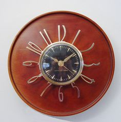 Modernist Wall Clock GE Telechron Model 2H59  Mid by ClubModerne  Retrofitted for battery - sold.