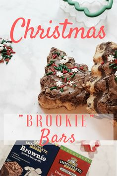 Christmas Brookie Bars | @Immaculatebakes | Immaculate Baking Co | Holiday Baking | How to make brookies