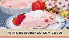 Torta de Morango com Coco - Receitas de Minuto #172