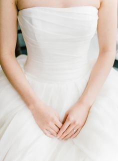 Classic strapless ballgown: http://www.stylemepretty.com/2016/05/25/rich-berry-shades-make-this-wedding-palette-pop/   Photography: Rebecca Yale - http://www.rebeccayalephotography.com/
