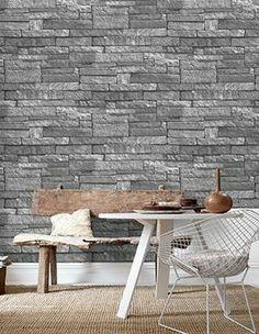 Stone wall look