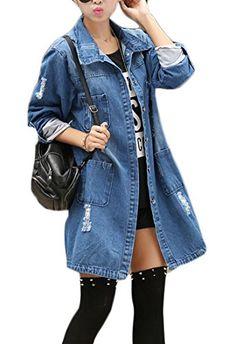 5a7105dce70cf3 Spirng Denim Jacket for Women 2017 Three Quarter Short Jeans Jacket Women  Slim Oversized Denim Coat Plus Size