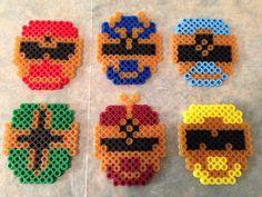 Ninja Storm Rangers Hama Beads Patterns, Beading Patterns, Perler Bead Art, Perler Beads, Melty Bead Designs, Power Rangers Ninja Storm, Crafts For Kids, Arts And Crafts, Light Speed