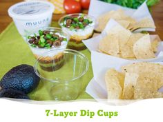 No need to worry about party guests double-dipping at your next get-together! These individual 7-layer Mexican dip cups featuring protein-packed and lowfat creamy Muuna cottage cheese will be a hit!